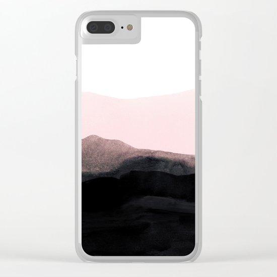 mountain horizon Clear iPhone Case