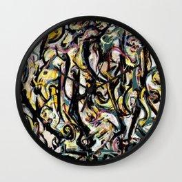 Mural - Jackson Pollock Wall Clock