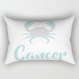 Cancer June 21 - July 22 - Water sign - Zodiac symbols Rectangular Pillow