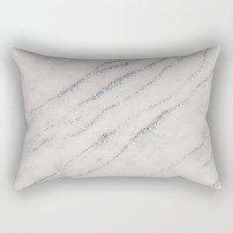 Marble Silver Glitter Glam #1 #shiny #gem #decor #art #society6 Rectangular Pillow