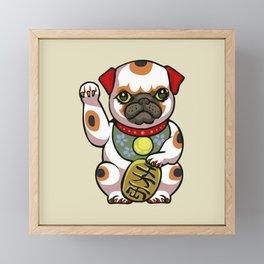 Maneki Pugko Framed Mini Art Print