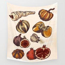 Fall Produce Wall Tapestry