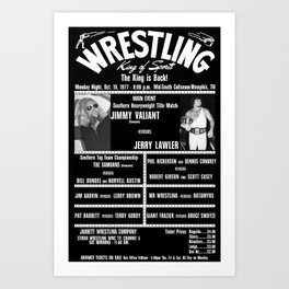 #4-B Memphis Wrestling Window Card Art Print
