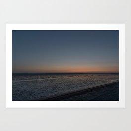 Wadden Sea at Night Art Print
