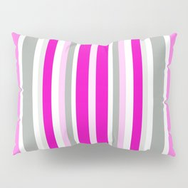 Vertical Stripes Pattern: Pink Pillow Sham