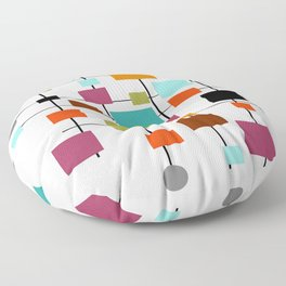 Mid-Century Modern Art 1.3.1 Floor Pillow