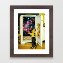No More Galaxies for Today, Timmy! Framed Art Print