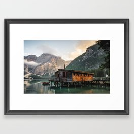 Lago di Braies Framed Art Print
