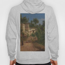 The Hermitage of St Maria of the Avvocatella near Naples by Eu von Guerard Date 1849 Hoody