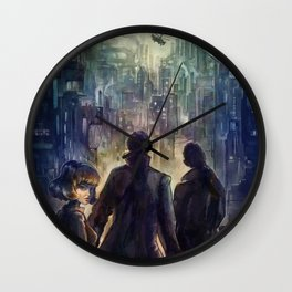 Dark district Wall Clock