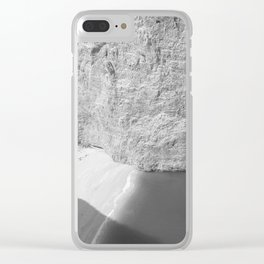 Black and White Zakynthos Clear iPhone Case