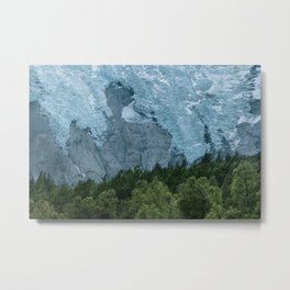 Mystic forest with Glacier in the Background Metal Print