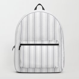Soft Grey Mattress Ticking Wide Striped Pattern - Fall Fashion 2018 Backpack
