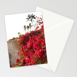 Bougainvillea & Palm Trees Stationery Cards