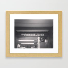 Welcome to Detroit Framed Art Print