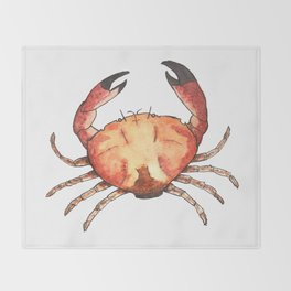 Crab: Fish of Portugal Throw Blanket