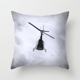 Flying Into Cloud Throw Pillow