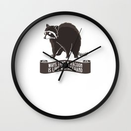 Stagehand Like Racoon Roadie Stage Crew Gifts Wall Clock