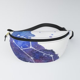 Galaxy Wolf Lupus Constellation Fanny Pack