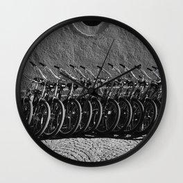 Waiting bikes Wall Clock