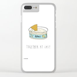 Hummus and Chips Clear iPhone Case