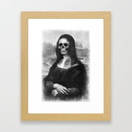 Mona Lisa - Xray Framed Art Print