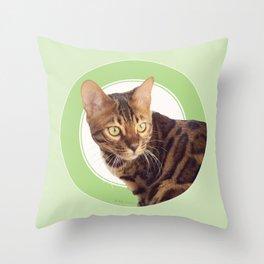 Boris the cat - Boris le chat Throw Pillow