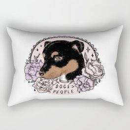 DOGS > PEOPLE Rectangular Pillow