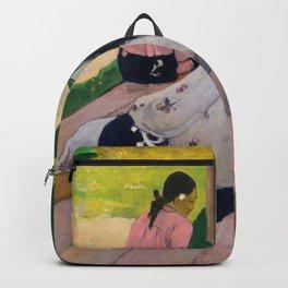 The Siesta (ca 1892-94) by Paul Gauguin Backpack