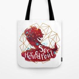 Horned Serpent Tote Bag