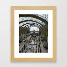Train Station, Paris 2008 Framed Art Print