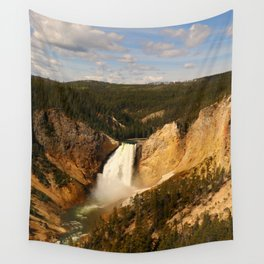 Majestic Yellowstone Upper Falls Wall Tapestry