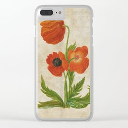 Vintage painting - Bunch of poppies Poppy Flower floral Clear iPhone Case
