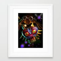 majoras mask Framed Art Prints featuring Majoras Mask by Max Grecke