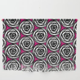 Black and White Rose Wall Hanging