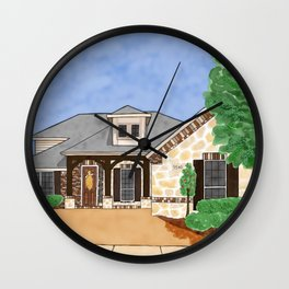 Beautiful Brick Home Wall Clock