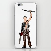 evil dead iPhone & iPod Skins featuring The Evil Dead - Bruce Campbell by Ayse Deniz
