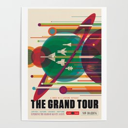 NASA Retro Space Travel Poster The Grand Tour Poster