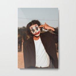 man-wearing-the-joker-makeup Metal Print