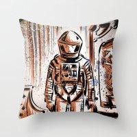 2001 Throw Pillows featuring 2001 by Joe Badon