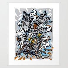 Eagle Vs Drone Art Print