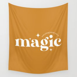 Everything About You is Magic - Mustard Wall Tapestry