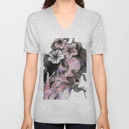 In The Year Of Our Lord (smiling flower lady portrait) Unisex V-Neck