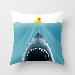 Save Ducky Throw Pillow