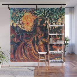 African American Masterpiece Landscape with Sun Setting, Florence, S.C. by William Henry Johnson Wall Mural