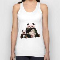 pandas Tank Tops featuring Pandas by J ō v