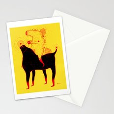 Yellow Rider Stationery Cards