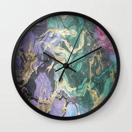 Liquid Splash Of Colors Wall Clock