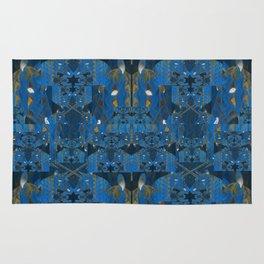 Blue Indigo Unicorn Fractal Rug