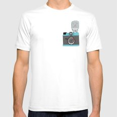 Cameras White Mens Fitted Tee MEDIUM